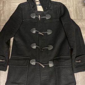 Burberry Brit black finsdale wool duffle coat 4